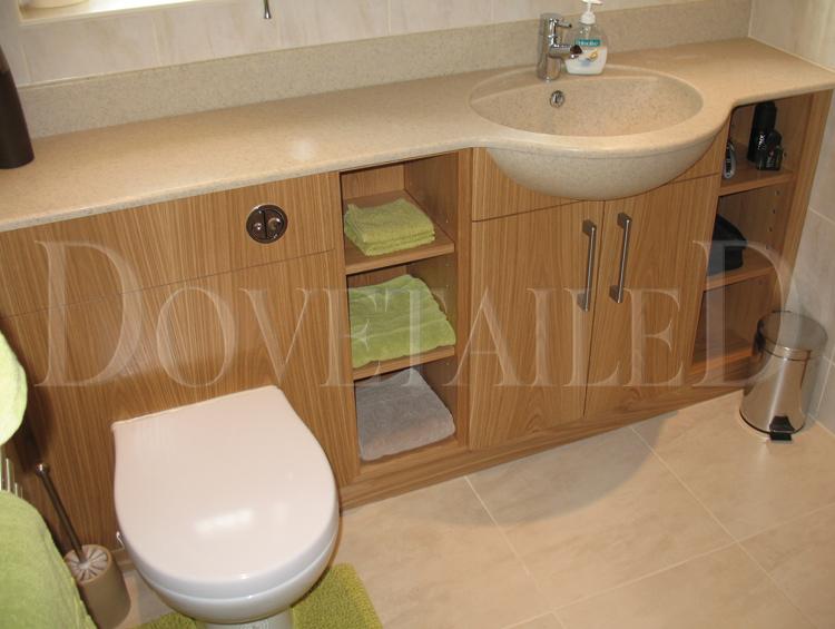 Ensuite Bathroom And Fitting bespoke made oak veneer en-suite | dovetailedinteriors.co.uk