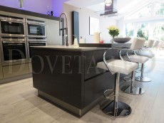 Ultragloss Champagne and Terra Oak Handleless Kitchen