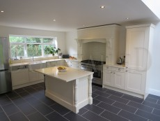 Solid Ash Painted Shaker Kitchen